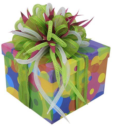 Caja de regalo para fiestas regalos originales centros - Envoltorios originales para regalos ...