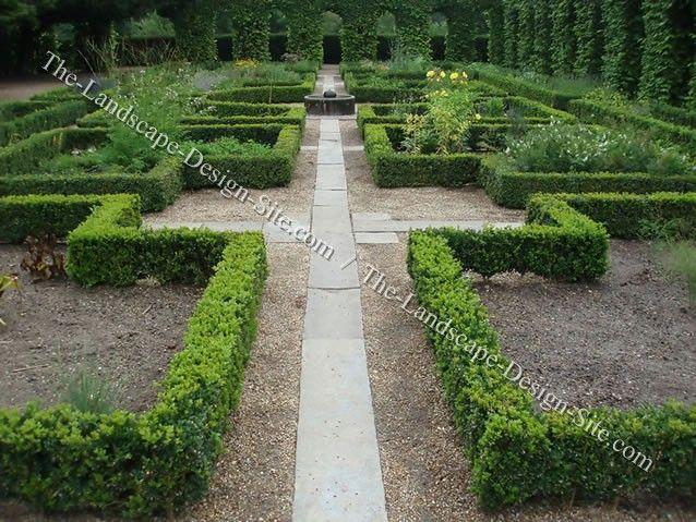 Formal garden path Garden Pinterest