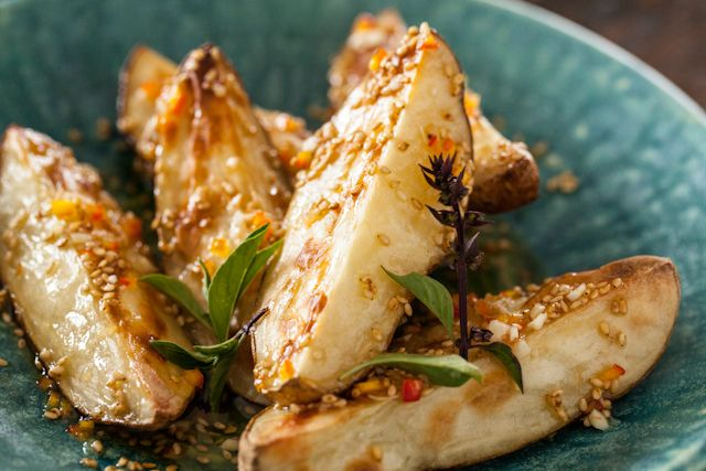 Warm Asian Potato Salad with Sesame & Fresh Chile Dressing from @Jaden ...