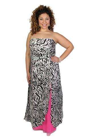 Zebra Plus Size Prom Dresses 62
