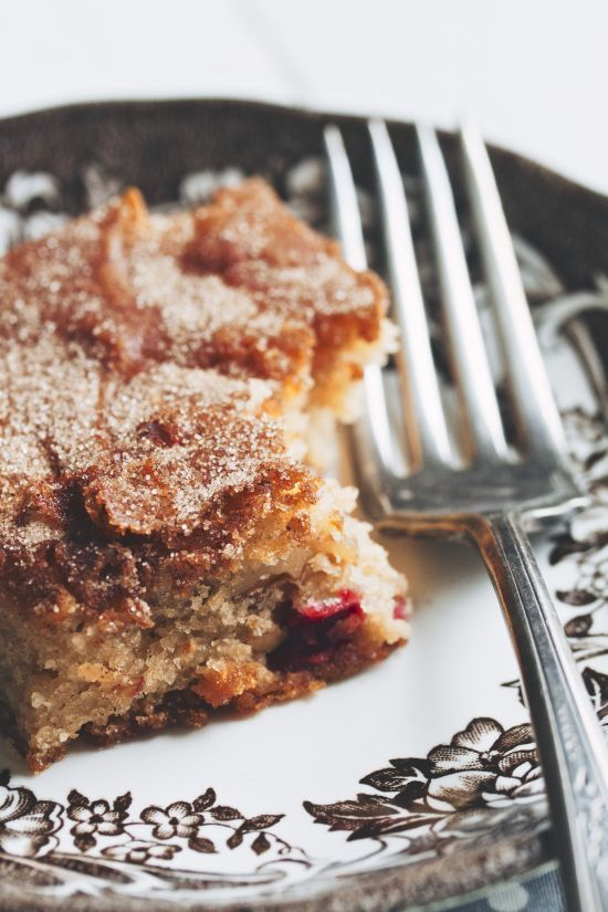 "Apple Cranberry Snacking Cake. | All about ""Food"" 