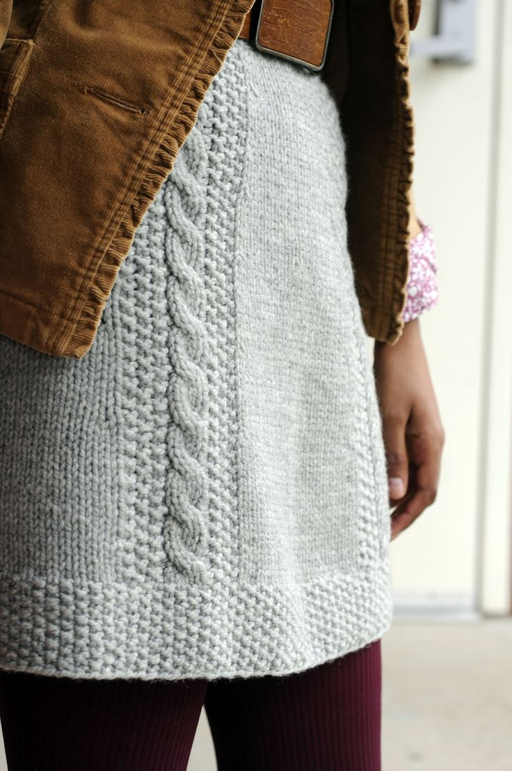 Knitted Skirt Pattern CB Personal Style Pinterest