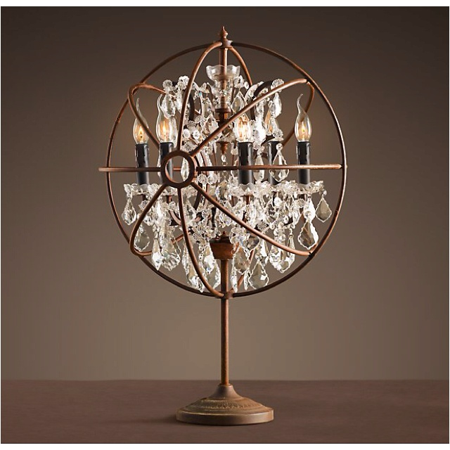 foucault 39 s orb crystal table lamp from restoration hardware. Black Bedroom Furniture Sets. Home Design Ideas