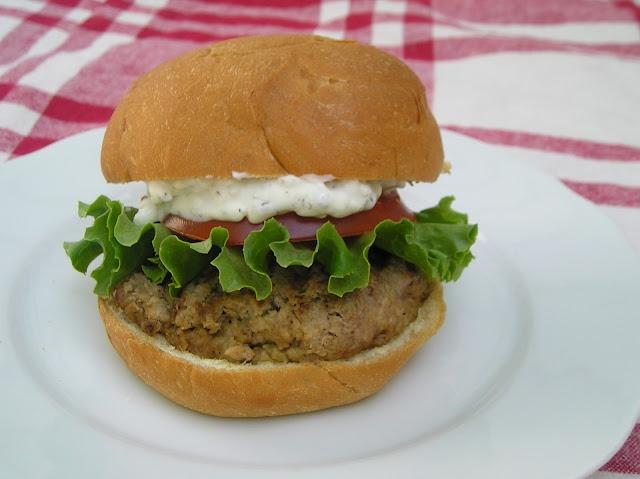 Hummus Turkey Burgers with Feta Tzatziki Sauce
