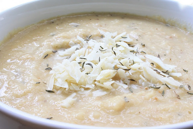 Roasted Cauliflower & Asiago Soup | Mangia! Mangia! | Pinterest