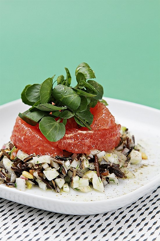 Wild rice and fennel salad with grapefruit, watercress and Champagne ...