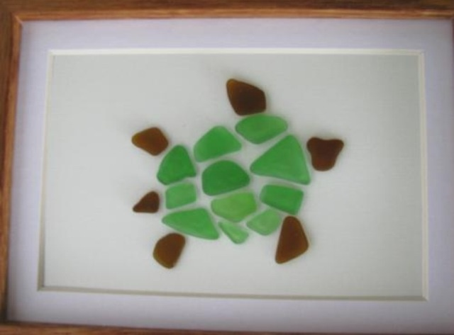 sea glass turtle art arts and crafts pinterest