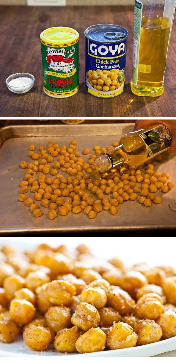 Healthy Crispy Roasted Chickpeas Recipe. Enjoy!