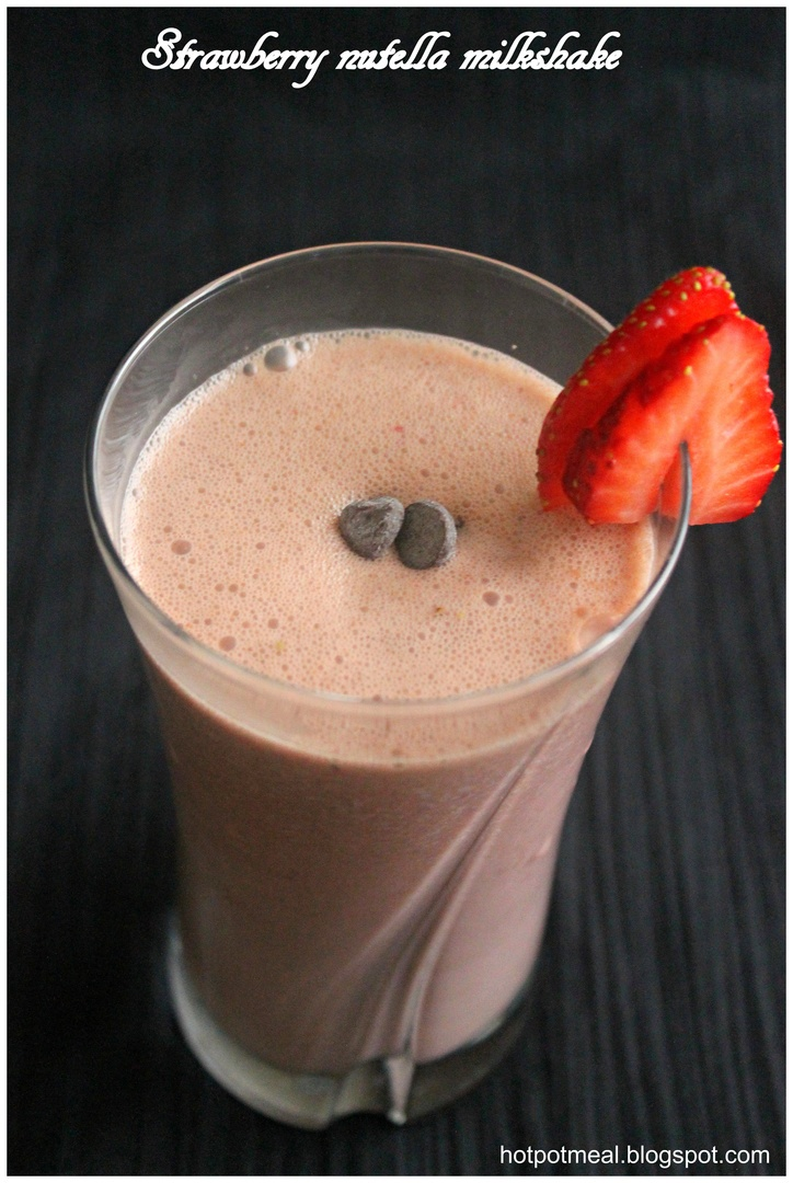 Strawberry nutella milkshake | Drinks!!!!! | Pinterest