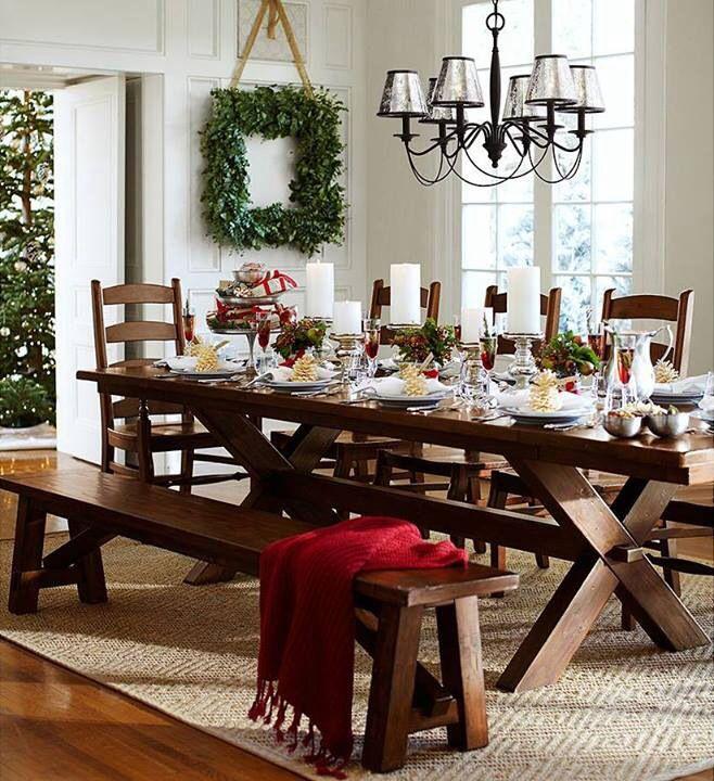 pottery barn table de no l dining room pinterest