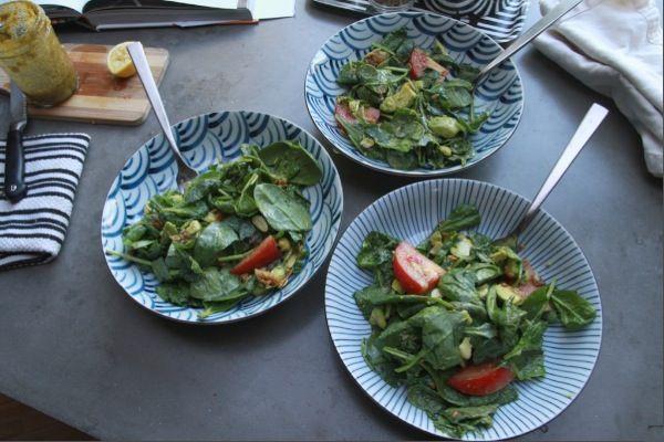 Spinach Bacon Salad | Salads and salsas | Pinterest
