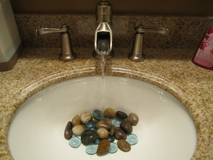 rocks in my sink, I think so :) For the Bathroom Pinterest