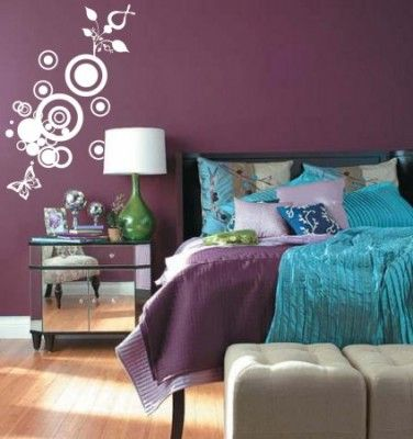 image purple and turquoise bedroom ideas