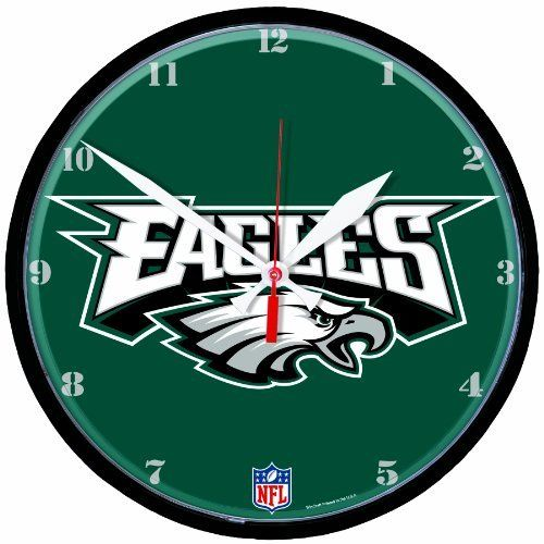 Nfl Philadelphia Eagles Round Clock By Wincraft Officially