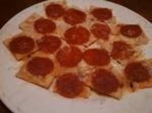 Jiffy Pepperoni Pizza Cracker Snacks | Recipes - SNACKS | Pinterest