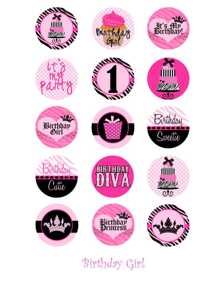 Birthday girl rebekka pinterest for Bottle cap designs