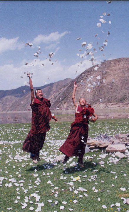 Laughing monks #buddha