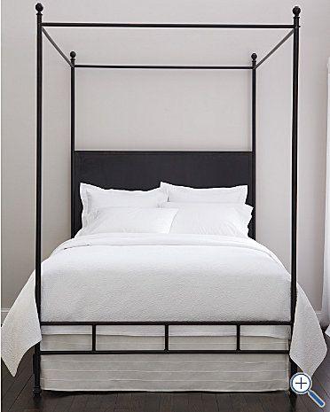 Simple Metal Canopy Bed Bedrooms Pinterest