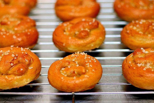 miniature soft pretzels from Smitten Kitchen