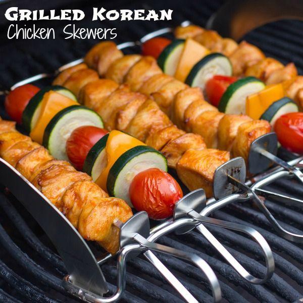 Grilled Korean Chicken Skewers | Chicken | Pinterest