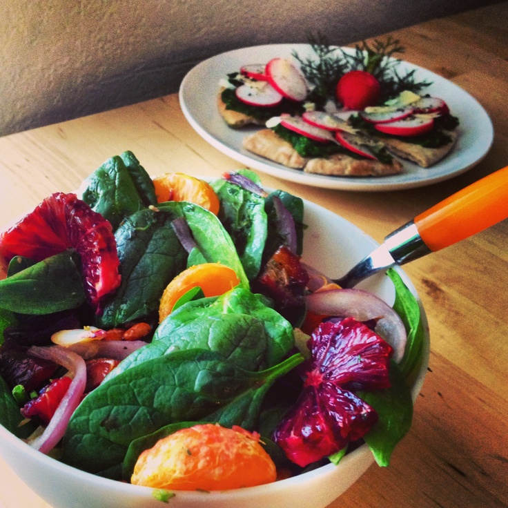 blood orange and clementine salad with caramelized red onion and ...