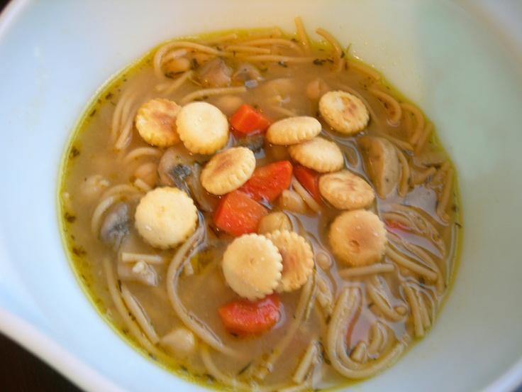 Chickpea Noodle Soup #vegan | The Peaceful Pantry | Pinterest