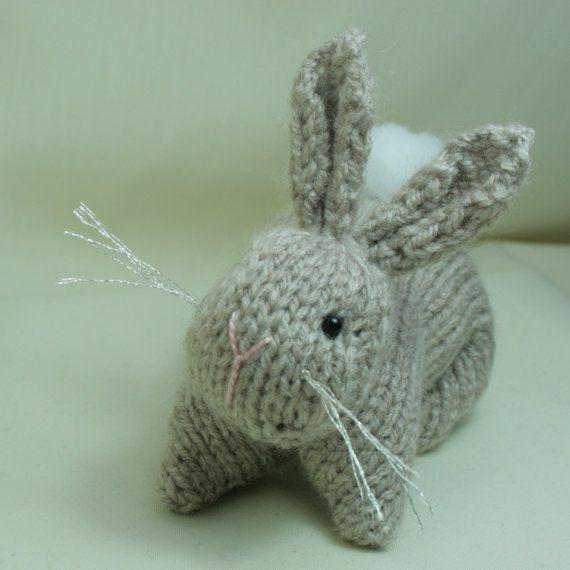 Knit Amigurumi Patterns : Bunny Rabbit - Hand knitted amigurumi softie