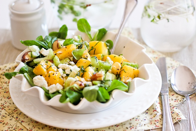Mango, Celery and Goat Cheese Salad | Recipe