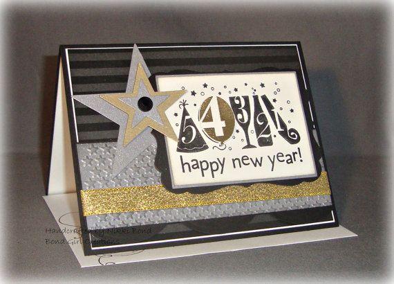 new year happy new year handmade card