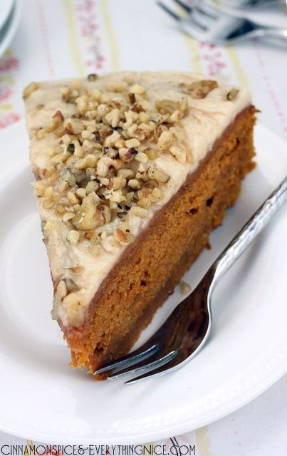 Spiced Pumpkin Cake with Brown Butter Icing Rating: 5 Prep Time: 15 ...