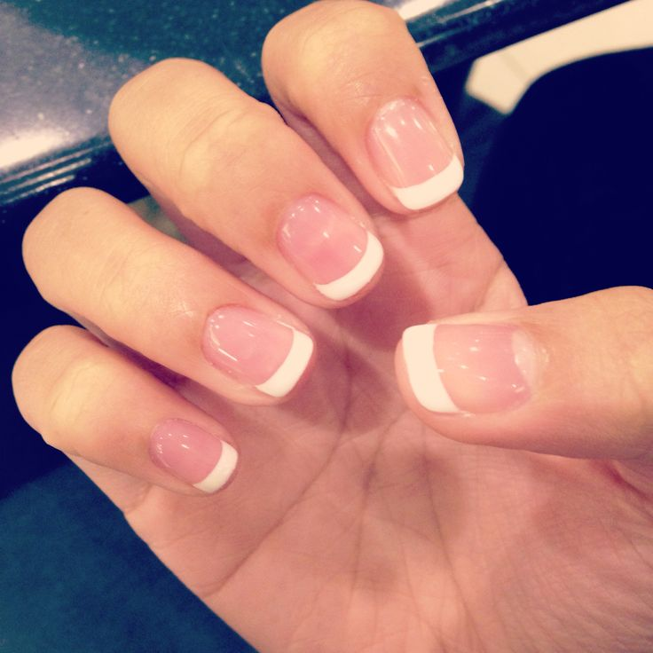 Gel French Tip Manicure | Our Beauty | Pinterest