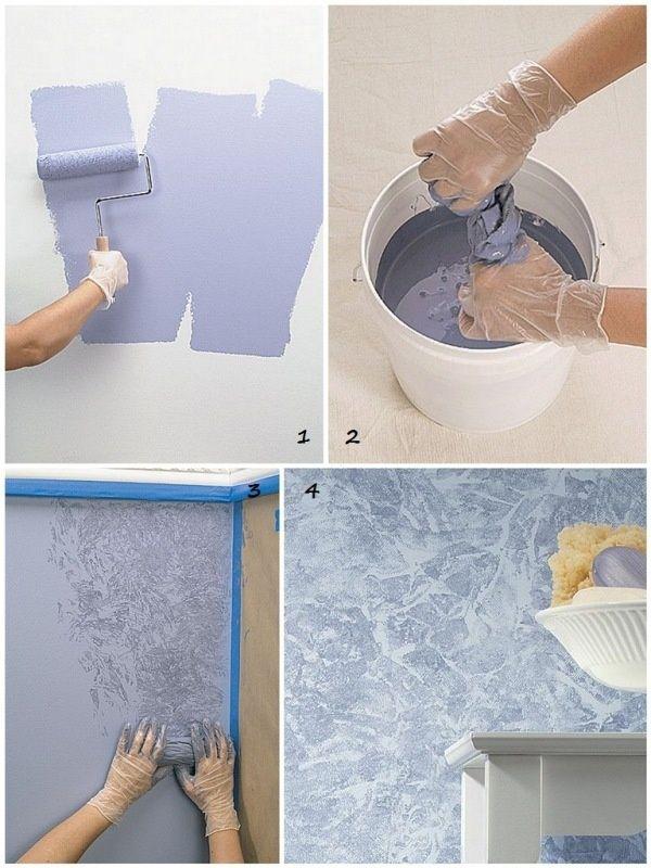 Как покрасить стены красиво ванну своими руками