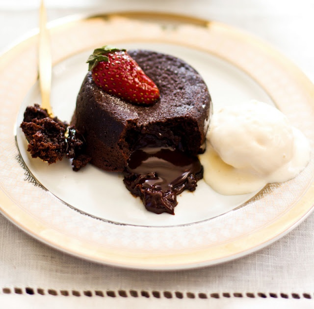 Molten Lava Chocolate Cake in the oven.   Food   Pinterest