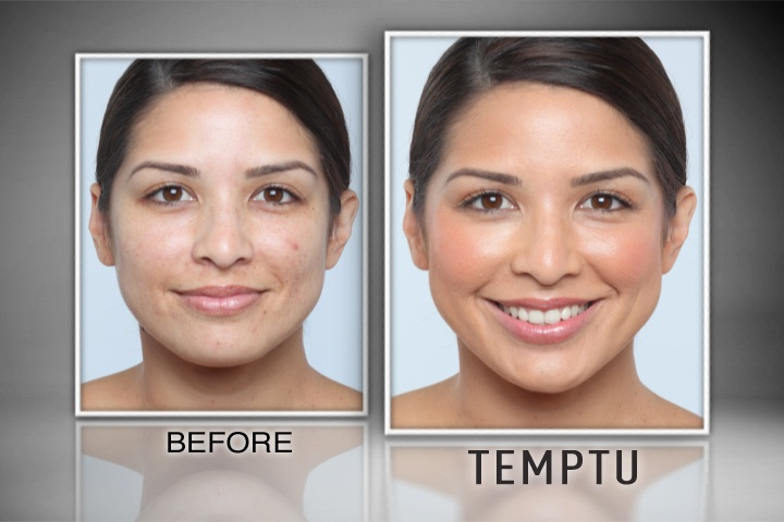 Amazing Before & After results using TEMPTU AIRbrush Makeup- great for all skin types