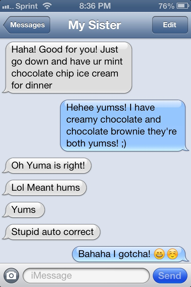 Text Fails Auto Correct