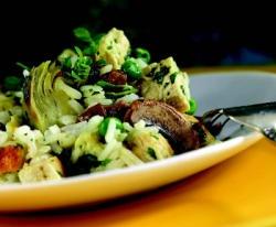 ... : Lifestyle : Mushroom, Artichoke, Rice, Raisin, and Chicken Salad