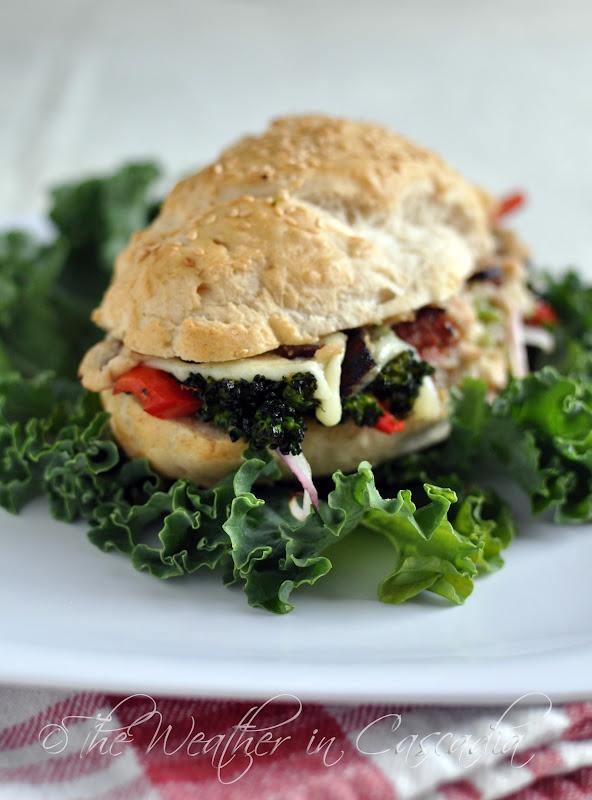... in Cascadia: broccoli rabe & red pepper hoagie melts, gluten-free