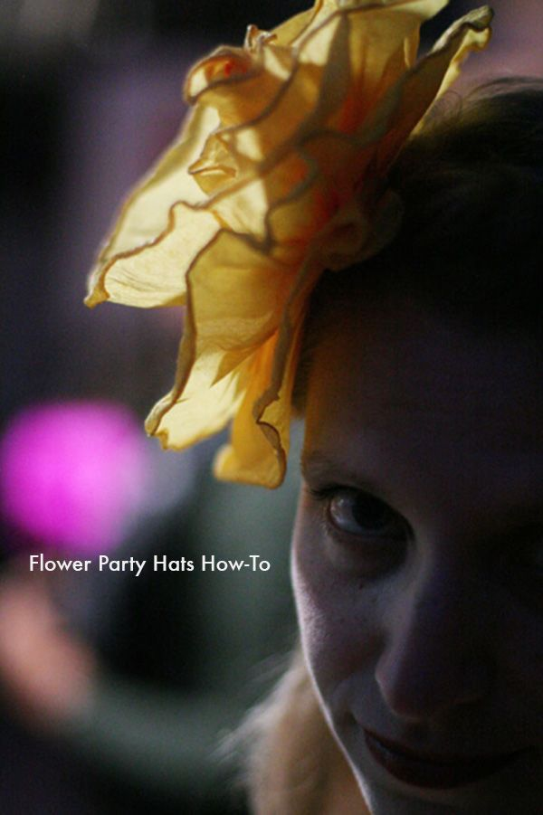 Flower Party Hats How-To