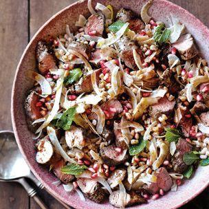 Warm Lamb and Farro Salad with Fennel and Pomegranate Williams-Sonoma