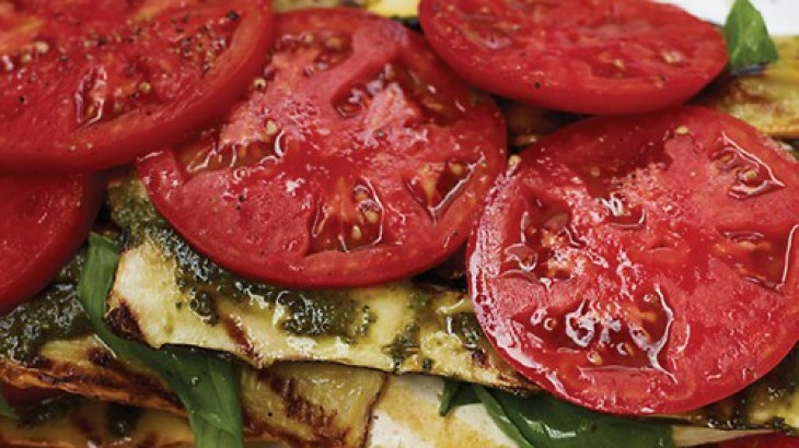 "Grilled Vegetable And Tofu ""Lasagna"" With Pesto Recipes — Dishmaps"