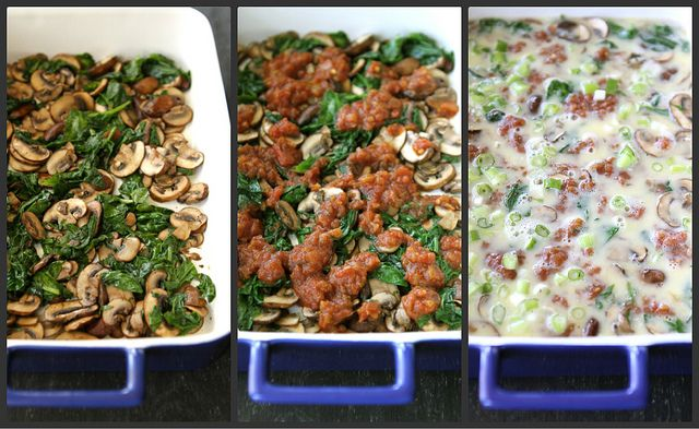 Baked Egg Breakfast Casserole with Mushrooms, Spinach & Salsa Recipe ...