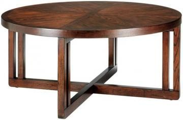 Lombard round coffee table also in coordinating end table