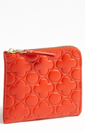 Comme des garcons 39 small 39 embossed french wallet color for Garcon french to english