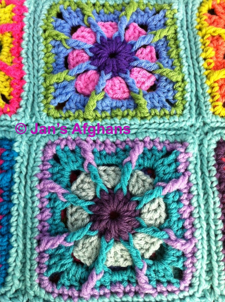 Crocheted afghan kaleidoscope granny squares baby afghan ...