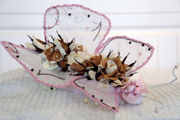 Бабочка из конфет своими руками фото 2