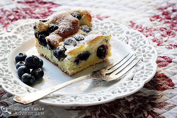 Blueberry Bublanina | Bubbly Cake | Recipe