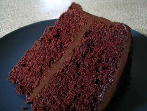 Black Midnight Chocolate Cake - this was my favorite birthday cake and ...