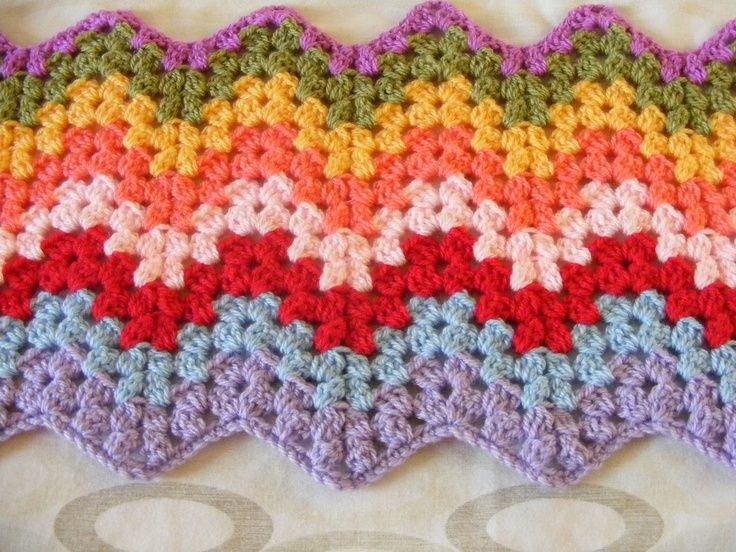 Crochet Stitches Ripple : granny ripple. Crochet Afghans and Throws Pinterest