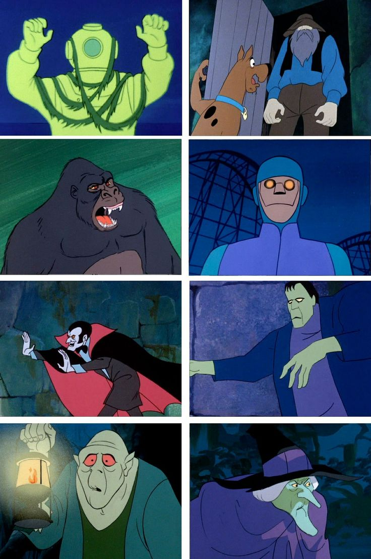Villains1 | Scooby doo villains | Pinterest