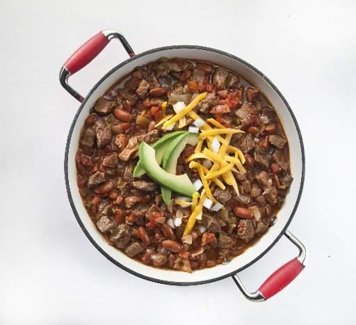 "Simple Super Bowl Chili"" with Bloody Mary mix for added spice and ..."